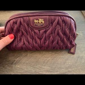 Authentic Coach makeup bag/pouch